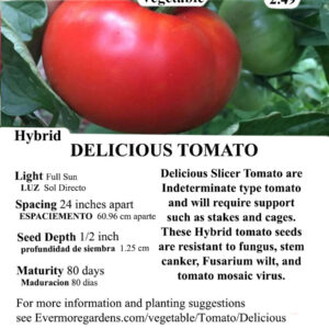 Evermore Gardens Delicious Slicer Tomato Delicious Slicer Tomato Hybrid Seeds