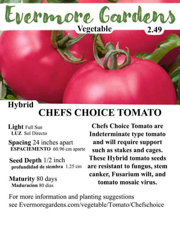 Evermore Gardens Chefs Choice Tomato Chefs Choice Tomato Hybrid Seeds